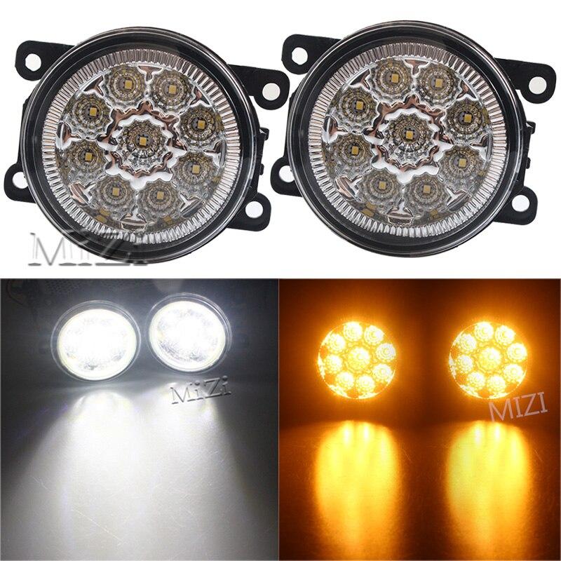 """LED DRL Fog Slim Spot Lights 6.29/"""" 12V FOR MITSUBISHI L200 PAJERO NEW 18W"""