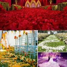 2000 pcs/lot Fashion Artificial Silk Rose Petals fleurs artificielles petale de rose mariage Wedding Party Decoration Favor