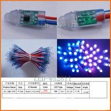 100 pcs 2x50pcs String WS2811 waterproof module 5V 12V Pixel 8mm RGB Bead Addressable LED Module Light String IP68
