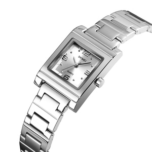 Image 4 - SKMEI אופנה נשים של שעוני יוקרה מותג נירוסטה קוורץ גבירותיי שעון עמיד למים נשים צמיד שעון Relogio Feminino