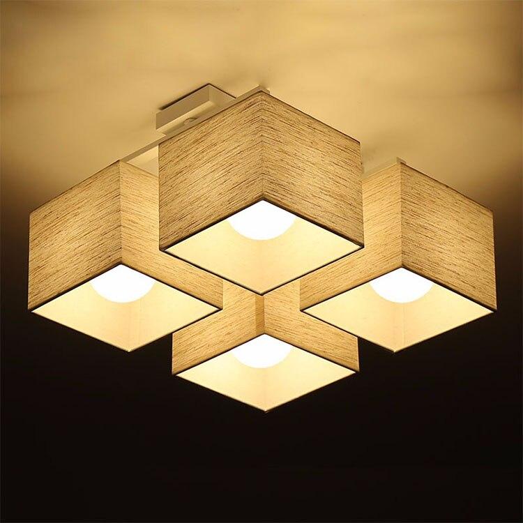 Led Cloth Ceiling Lights Square Lights Light Source E27