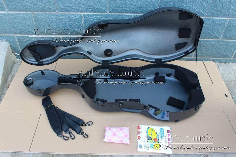 Neuer 4/4 Cellokoffer aus reiner Kohlefaser mit starkem Lichtrad - Musikinstrumente - Foto 2