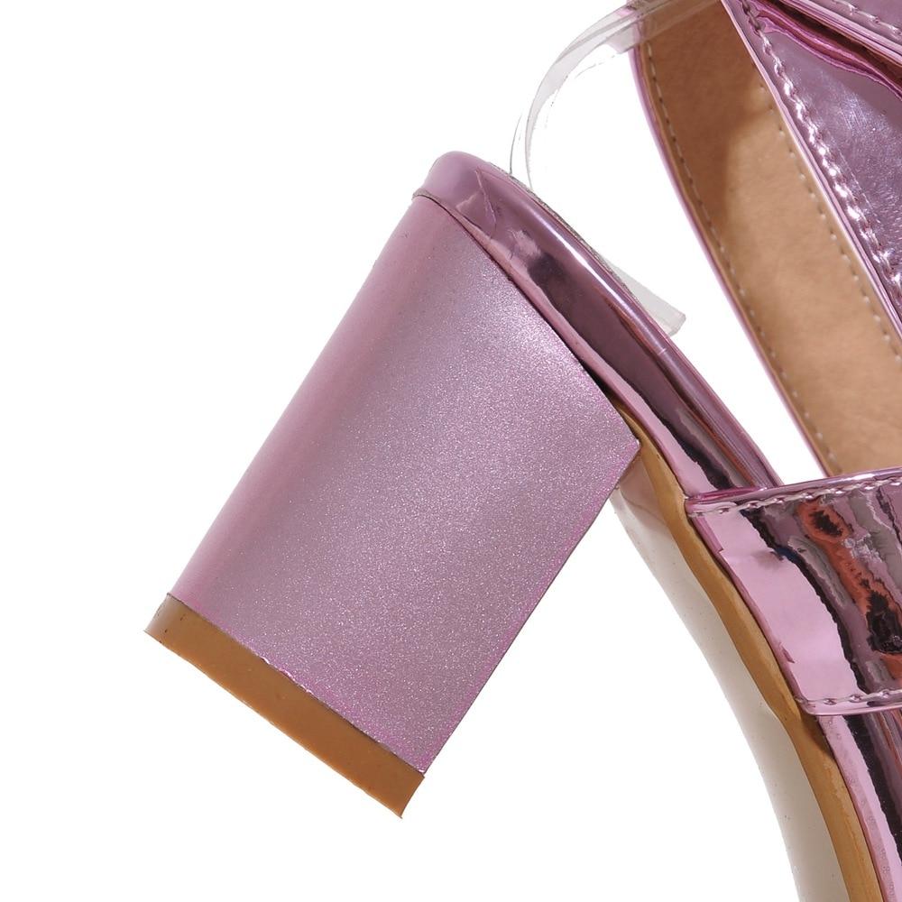 D'été Gladiateur 33 argent Nouveau Plus Partie Femme Épais La Chaussures Talons Sandales Femmes Boucle rose Or 43 Robe Taille Haute Mode 2018 xF7wZ1qZ