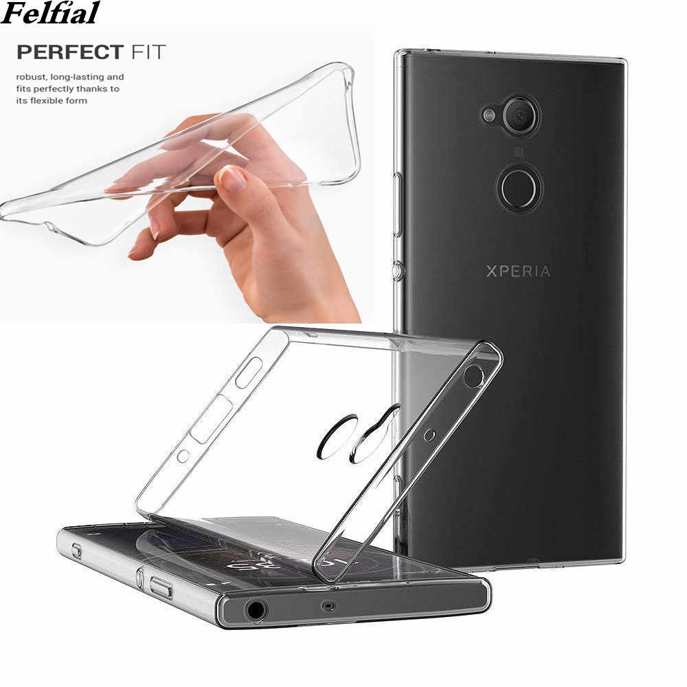 TPU Silicon Clear Fitted Bumper Soft Case for Sony Xperia L3 L2 L1 Z1 Z2 Z3 Z4 Z5 XZ XZP XZ1 XZ2 XZ3 XZ4 Transparent Back Cover