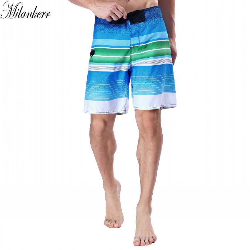 fe6a22c757 Milankerr Brand Surf Shorts for Men Twin Micro Fiber Boardshorts Stripes  Beach Swim Trunks Male Beach Shorts with One Pocket