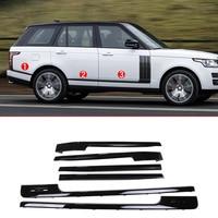База и длинной колесной База Запчасти для авто для Landrover Range Rover Vogue lr405 14 17 ABS Gloss Black Side украшения полосы отделкой
