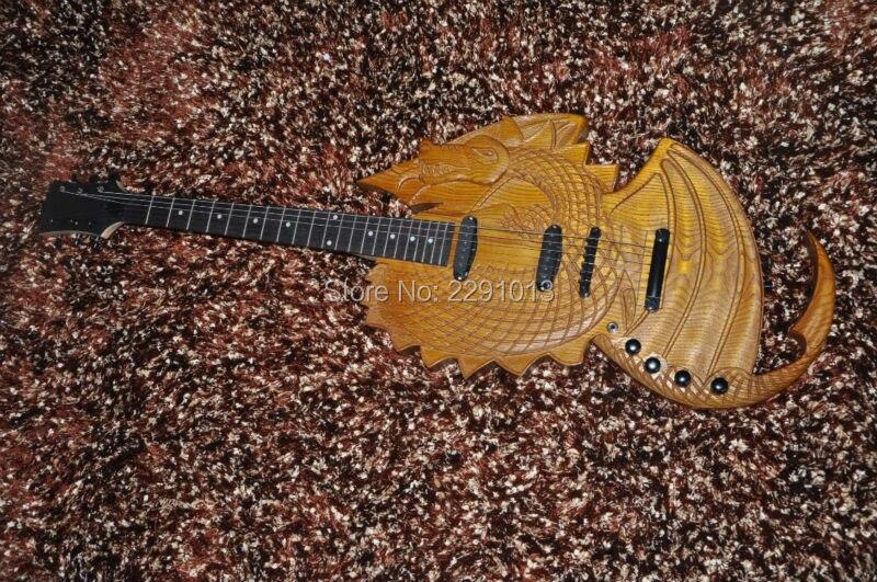 custom shop special shape body electric guitar 3d carved dragon body ebony fretboard free. Black Bedroom Furniture Sets. Home Design Ideas