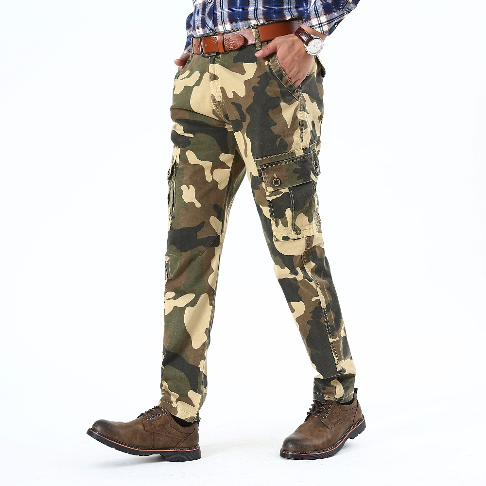 Men Autumn camouflage tactical pants War Game Cargo pant mens Clothes trousers army camouflage cargo pants L523