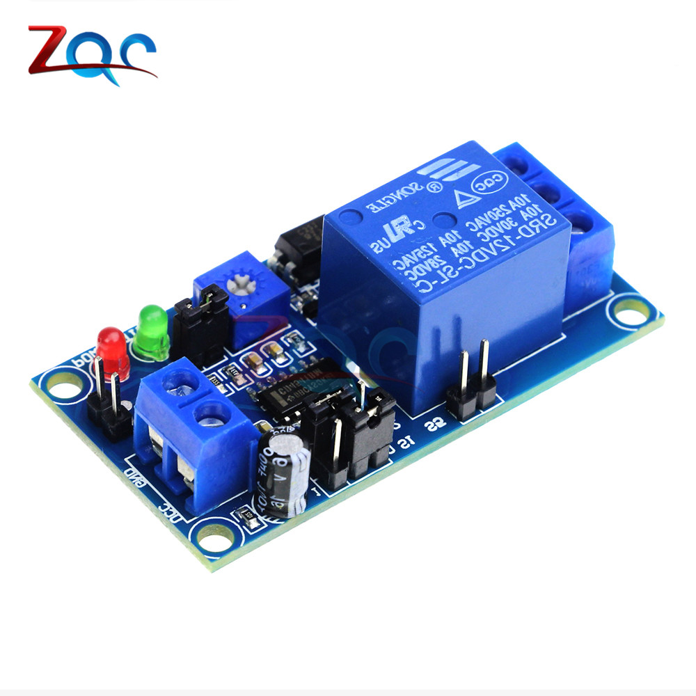 DC 12V Delay Relay Delay Turn On Off Switch Module With Time Timer Timing Adjustable Potentiometer LED Indicator Display