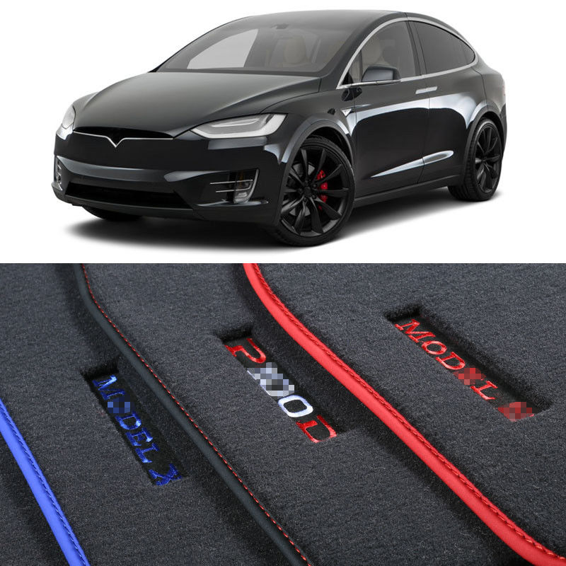 Savanini Custom Made 1/2 Thickness Solid Nylon Interior Odorless Floor Carpet Mats Cover Fitted For Tesla Model X 2016-