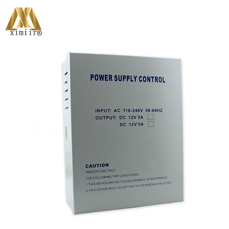 12V5A Power Supply For Access Control System 110-240V 50-60HZ Suitable To All Countrys