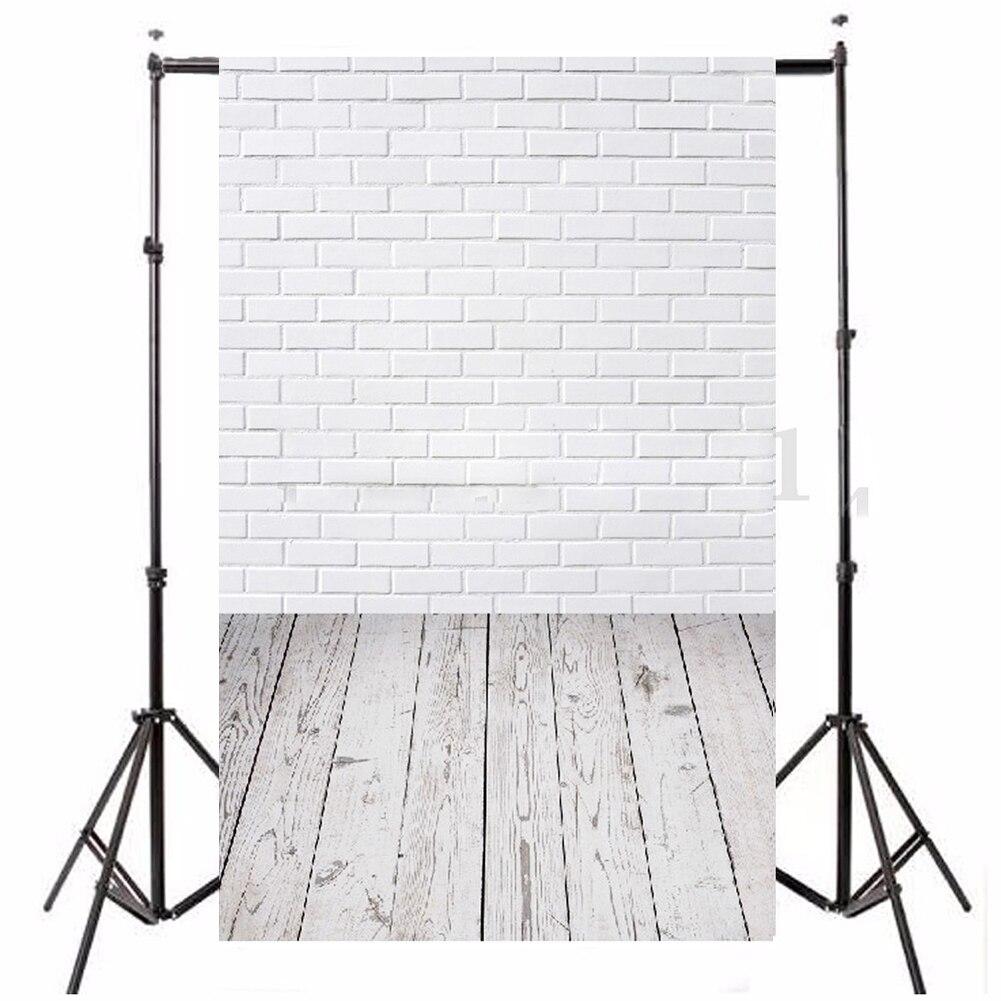 3x5ft flower wood wall vinyl background photography photo studio props - Vinyl Wood Floor Photography Studio Prop Background 3x5ft White Brick Wall China