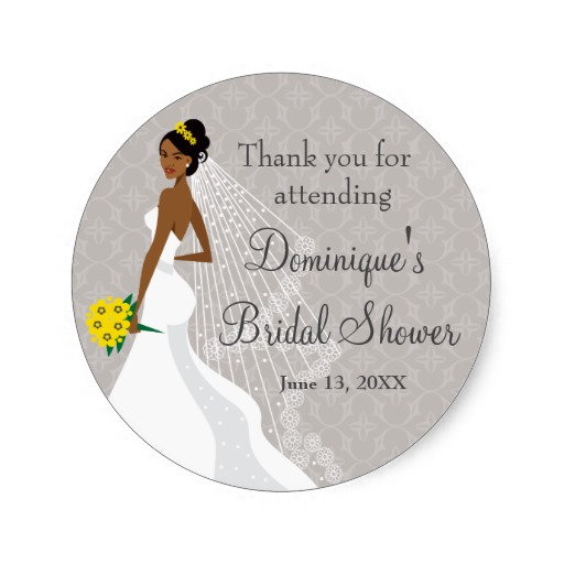 38cm flirty grey bridal shower thank you classic round sticker in stickers from home garden on aliexpresscom alibaba group