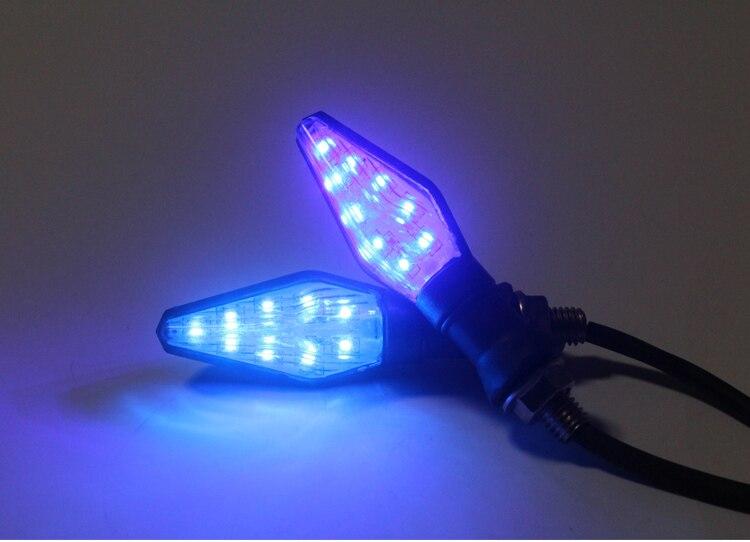 Led Motorcycle turn signals light led lamps sportster for honda CBR250R VTR1000F FIRESTORM VFR800/F VFR750 VF750S SABRE CBF1000
