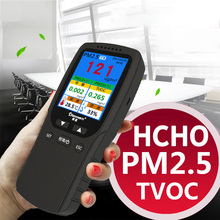 Digital HCHO Gas Analyzer Formaldehyde Detector PM1.0 PM2.5 PM10 TVOC Temperature Humidity Meter Household Car Monitor multi gas analyzer pm2 5 pm10 hcho detector thermometer hygrometer tvoc formaldehyde with temperature humidity meter