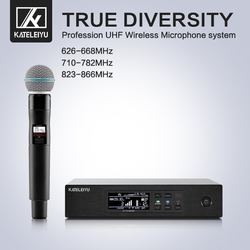Professional stage performance QLXD4 microphone handheld system professional wireless UHF Karaoke microphone singer DJ