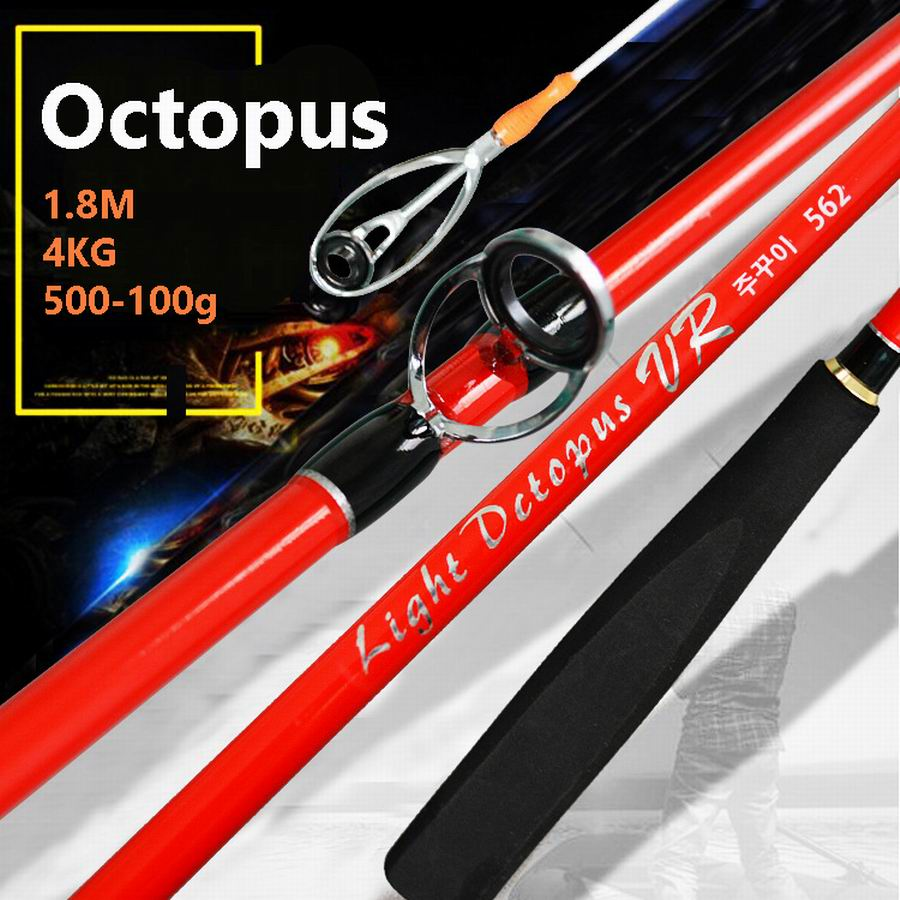 GEHAUT Brand Octopus Powerful Slow Jigging Super High Purity Hard Carbon Ocean Boat Fishing Rod 1.8M 4Kgs. Bait Weight 50 - 100g