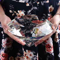 crystal diamond paperweight 200mm for Birthday Wedding Party Favour Decoration girl friend Mother's Day Gift toys