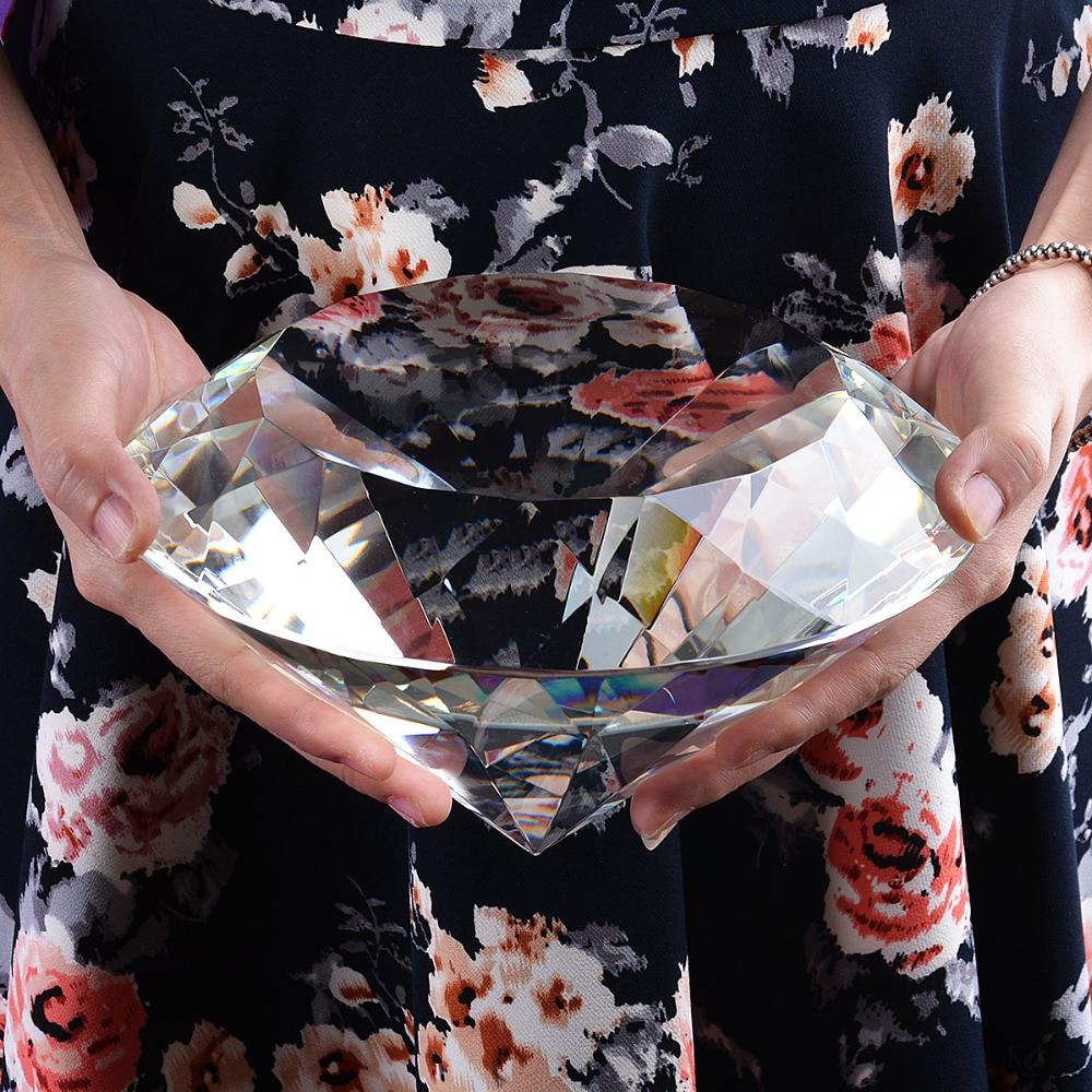 คริสตัล diamond paperweight 200 มม.สำหรับงานแต่งงานวันเกิดโปรดปรานตกแต่งเพื่อนสาวของขวัญวันแม่ของขวัญของเล่น-ใน รูปแกะสลักและรูปจำลอง จาก บ้านและสวน บน   1