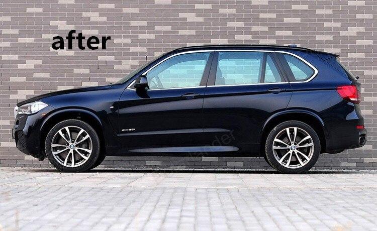 Heißer verkauf Fenster Trim Dekoration Streifen Für BMW X5 Edelstahl Auto Zubehör ohne spalte - 4