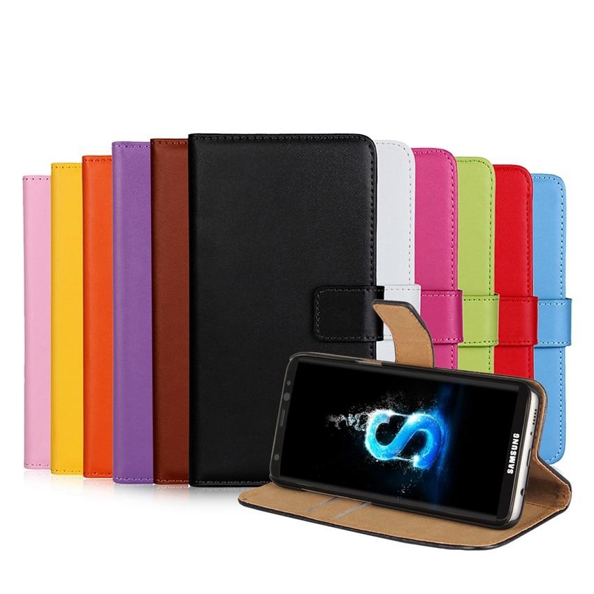 Äkta läder plånbok med stativ magnetisk lås telefon ärmväska - Reservdelar och tillbehör för mobiltelefoner - Foto 6