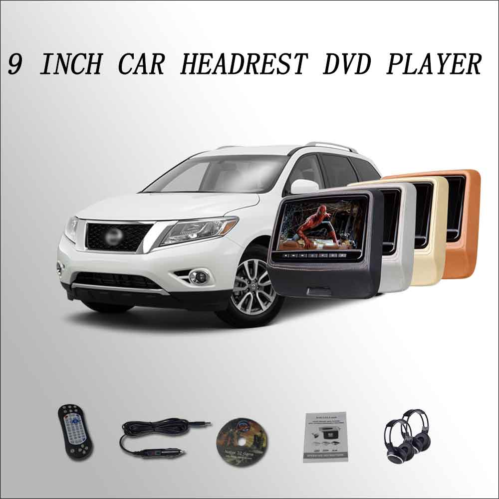 BigBigRoad For Nissan Pathfinder Car Headrest Monitor LCD screen 2*9