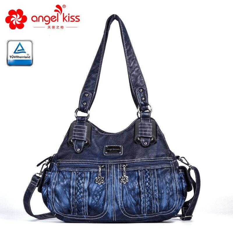 Mode sacs dames luxe Hobo sacs à bandoulière 2018 grande capacité PU cuir femmes Shopping Crossbody sacs voyage sac à main