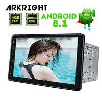 ARKRIGHT 8 Android Автомагнитола аудио стерео 4 + 32 ГБ Android 8,1 автомобильный мультимедийный плеер gps Авторадио/Автомобильный приемник встроенный DSP