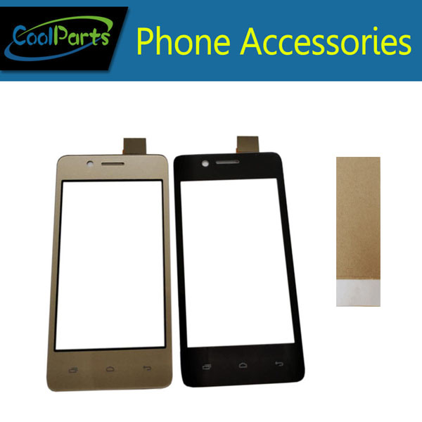 1PC/Lot High Quality For <font><b>Micromax</b></font> Bolt <font><b>Q402</b></font> <font><b>Touch</b></font> Screen Digitizer <font><b>Touch</b></font> Panel Lens Glass With Tape Black Gold Color image