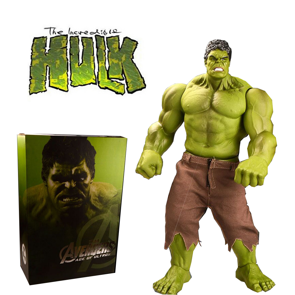 SAINTGI HULK Avengers2 super big II Captain America 3 Action Figures Super Hero Marvel PVC 42cm Model Gifts OPP BAG Anime high quality hulk figures the avengers super hero pvc model hulk action figures children kids best gift