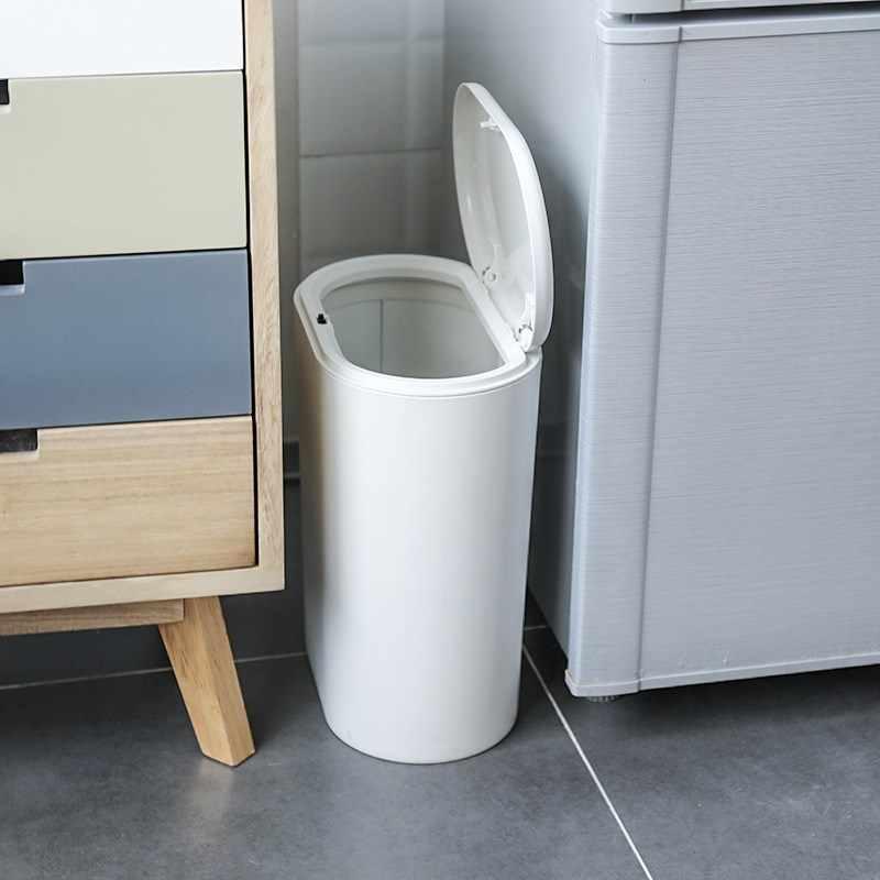 Press Type Small Trash Can Household Kitchen Garbage Storage Bin Living Room Bedroom Bathroom With Lid Paper Basket Mx6151708 Waste Bins Aliexpress