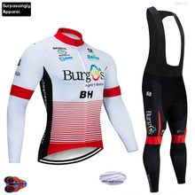 Winter 2019 Cycling Jersey Jackets BH Team 9D Pad Pants Suit Ropa Ciclismo Mens Thermal Fleece Bicycle Maillot Culotte Clothing цена и фото