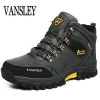 Мужские ботинки, размер 39-47, дизайнерская мужская обувь, зимние ботинки, непромокаемые мужские зимние ботинки, мужские ботильоны на шнуровк...