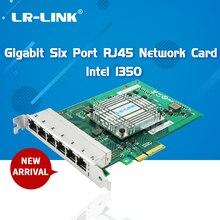 LR LINK 2006PT Altı Bağlantı Noktası Gigabit Ethernet RJ45 Endüstriyel Kart PCI Express Lan Ağ Kartı Sunucu Adaptörü Intel I350 NIC