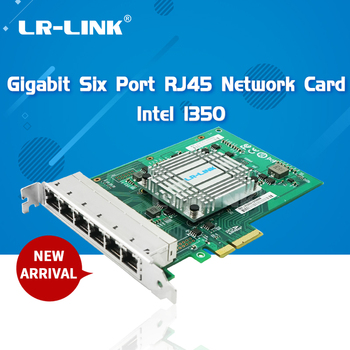 LR-LINK 2006PT Six Port Gigabit Ethernet RJ45 Industrial Card PCI Express Lan Network Card Server Adapter Intel I350 NIC цена 2017