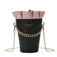 2019 New Round Bucket Bag  Fashion Women's Designer Handbag Quality PU Leather Women Bag Cute Chain Tote Shoulder Crossbody Bags стоимость