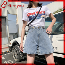 La Bar 2019 new Vintage women denim shorts super dragon beads button jeans boyfriend style shorts for women high waist jeans
