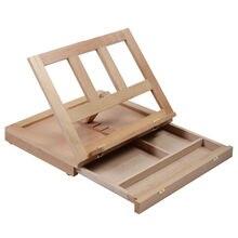 TFBC-Folding & Tragbare Künstler Schreibtisch Staffelei Holz Multi Positionen Skizzieren Skizze Schublade