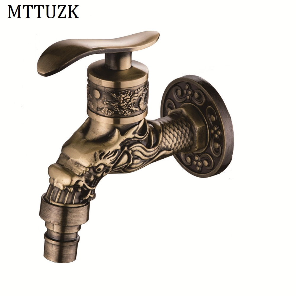 Decorative Outdoor Faucet Rural Animal Shape Garden Bibcock With Antique Bronze Fish Tap For Garden Washing Moderate Price Home Improvement