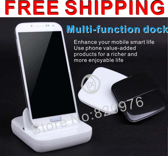 100%Quality good Multi-function Dock Charger and Holder for Samsung GALAXY S4 i9500/S III i9300/Note II N7100 N7000 I9220
