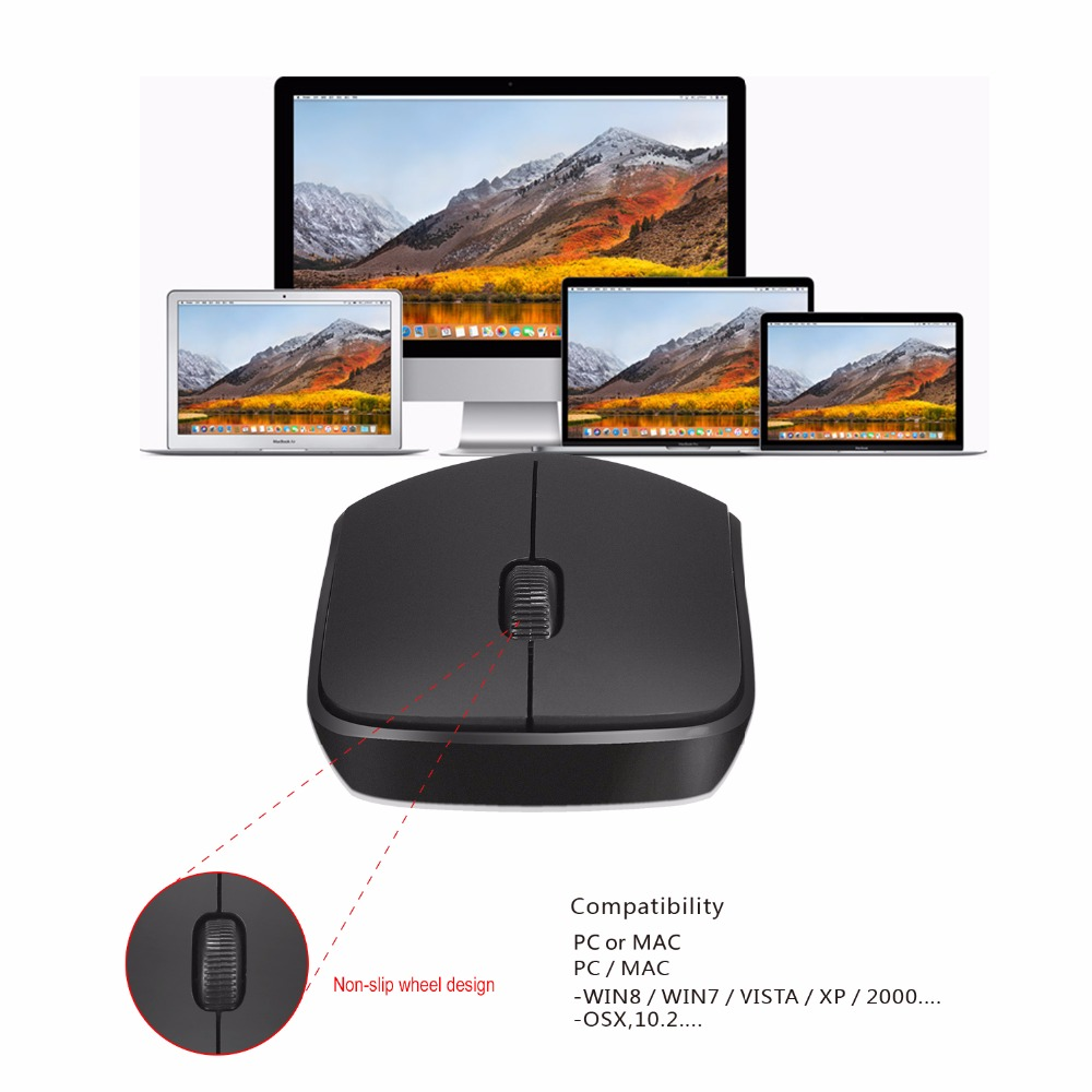 2 4Ghz Wireless Officer Mouse Optical Ergonomic Mordless Mouse 10Meters Operating Distance for PC Computer MAC pro in Mice from Computer Office
