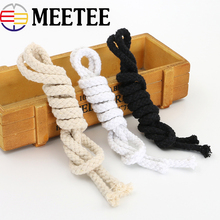 10Meter 5mm 6mm 7mm 100% Cotton Cord Woven Twisted Rope String Thread DIY Craft Home Decor Cordon Coton Rond