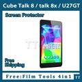 "3 peças/lote HD protetor de tela para cubo discussão 8, U27gt 8 "" tablet, Cube talk8x película protetora 4 em ferramentas de folha"