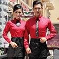 El nuevo personal de hotel restaurante servicio de caída y ropa de invierno femenina ropa de otoño e invierno de comida rápida tienda de largo manga do331