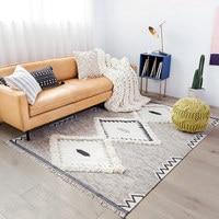 Шерстяные ковры в скандинавском стиле Killim для гостиной, спальни, винтажный Модный ковер с кисточками, дверной коврик, диван стол, Подушка дл