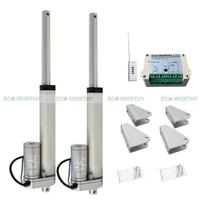 2 PCS 12V 6 In Linear Actuator Electric Motor Remote Control For Tripod Camera
