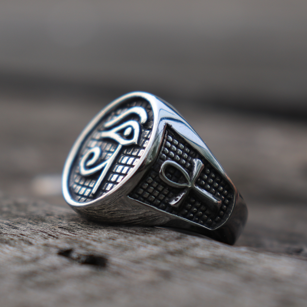 Eye of Horus Ankh  Men's Ring