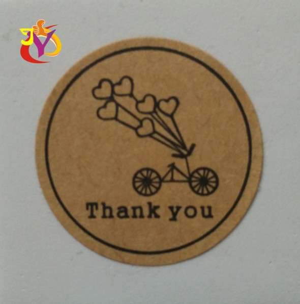 wholesale SIZE 30MM 200pcs/ Kraft sticker Kraft Thank YOU Sticker Label Kraft paper stikcer label