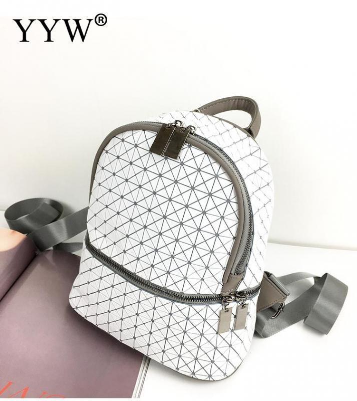 YYW 2018 sac à dos hommes Nylon géométrique décontracté voyage sacs noir blanc Couple sac à dos Mini mignon sacs à bandoulière Simple sac à dos