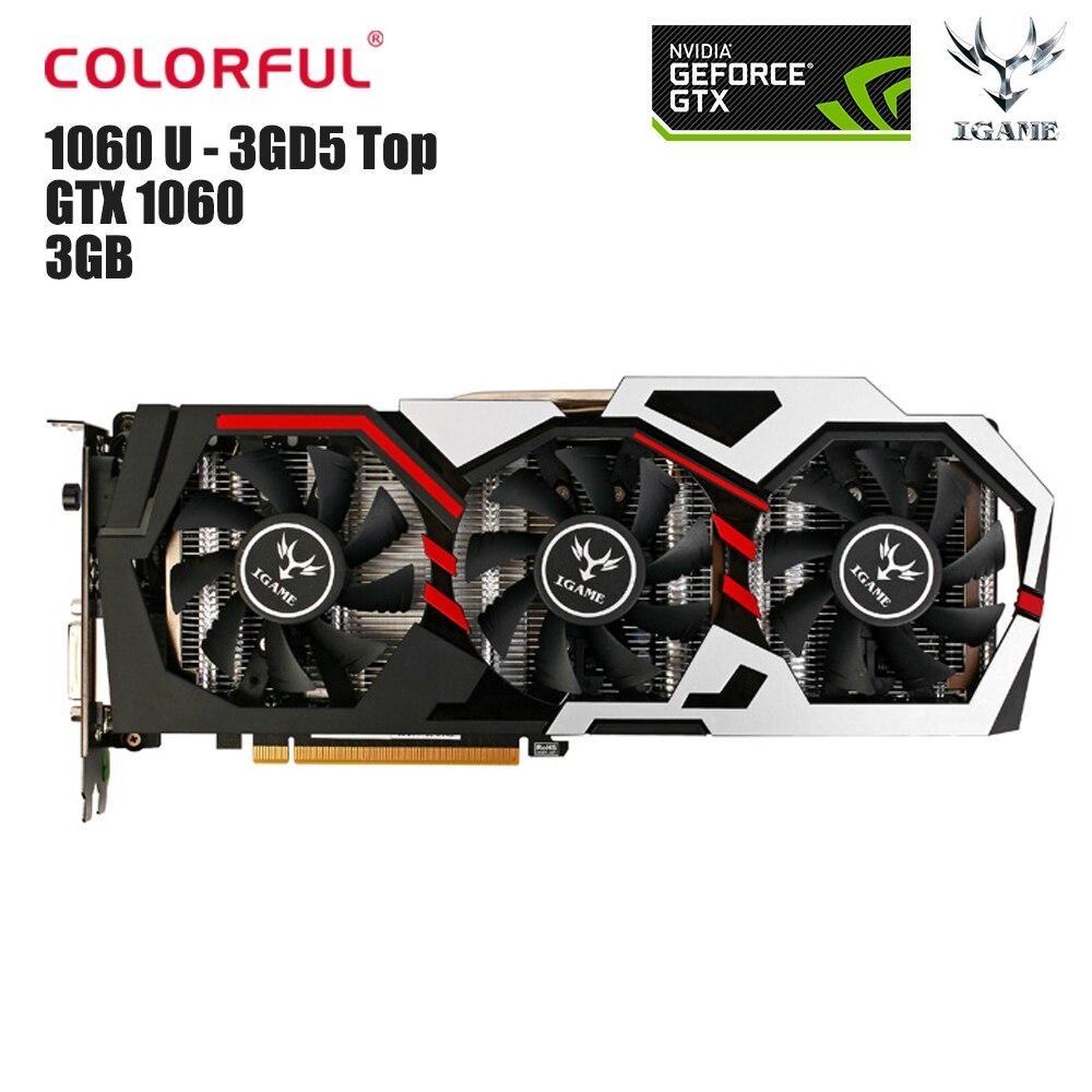 Originale Colorful iGame 1060 U-3GD5 Top 3 GB Video Graphics scheda GeForce GTX 1060 GPU GDDR5 192bit 1506 MHz Mappa per il Gioco